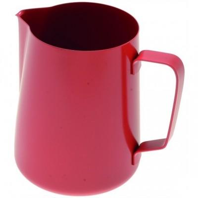 Džezva na zpěnění mléka 0,6 l červená z nerezové oceli