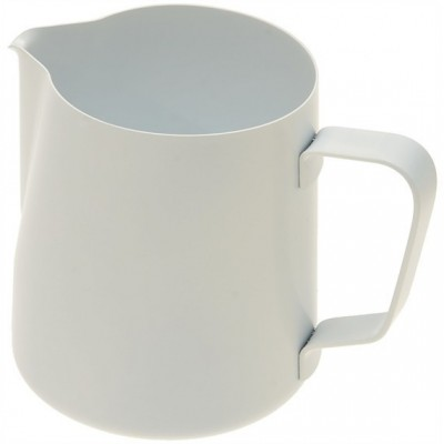 Džezva na zpěnění mléka 0,35 l bílá z nerezové oceli