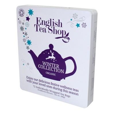English Tea Shop Vánoční zima bio kazeta 72 sáčků v plechové kazetě