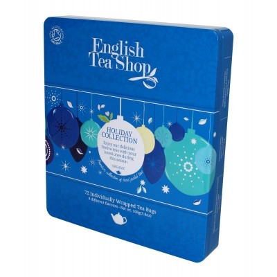 English Tea Shop MODRÉ OZDOBY kazeta 72 sáčků plech