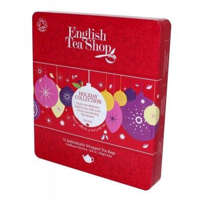 English Tea Shop ČERVENÉ OZDOBY kazeta 72 sáčků plech