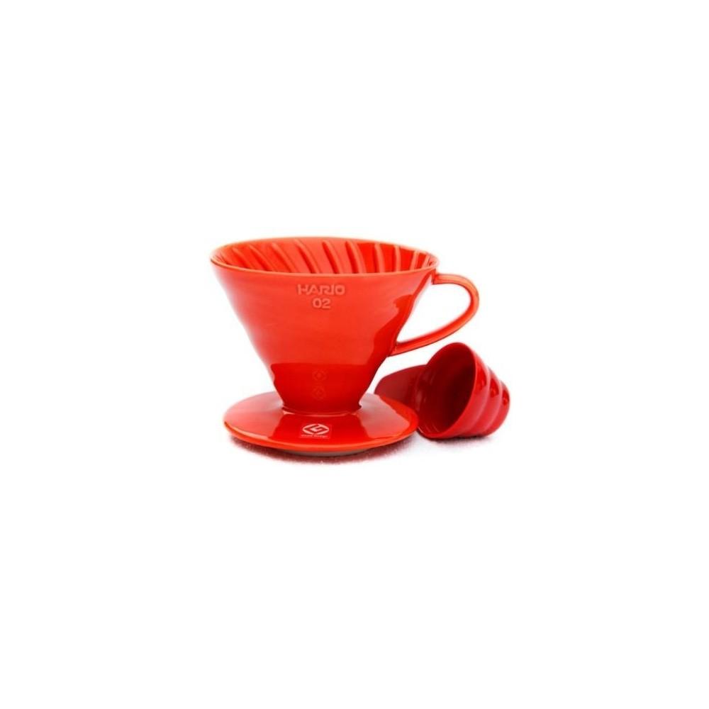 Hario Dripper V60 červený keramický 1- 2 šálky