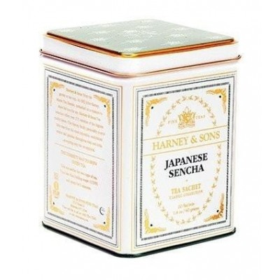 Harney & Sons čaj Japonská Sencha 20 hedvábných sáčků v plechovce
