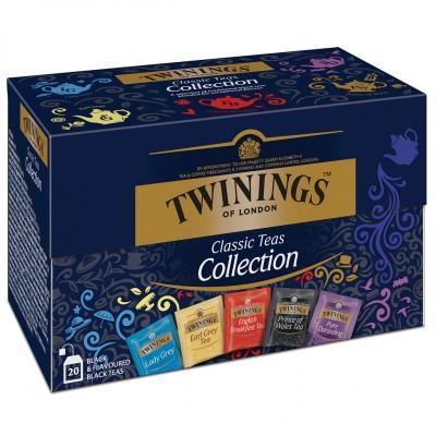 Twinings Kolekce černých čajů 20 x 2 g