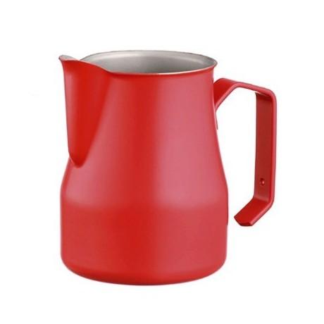Džezva na zpěnění mléka Motta 0,75 l z nerezové oceli s povrchovou úpravou Teflon červená