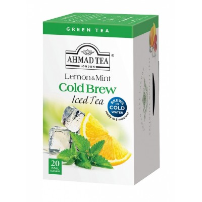 Ahmad Tea Cold Brew Iced Tea Lemon & Mint 20 x 2 g
