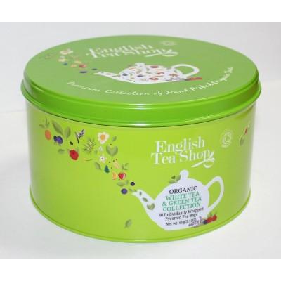 ETS 30 - Zelené a bílé čaje dárková zelená plechovka 30...