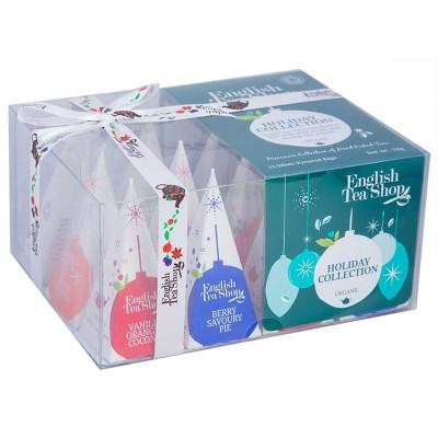 ETS Dárková vánoční krabička bio čajů zelené ozdoby s 12...