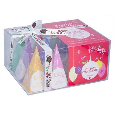 ETS Dárková vánoční krabička bio čajů červené ozdoby s 12...