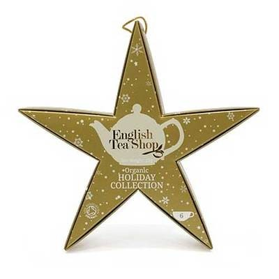 ETS Vánoční hvězda Zlatá 6 bio pyramidek