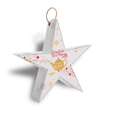 ETS Vánoční hvězda Zlatá s červenou 6 bio pyramidek