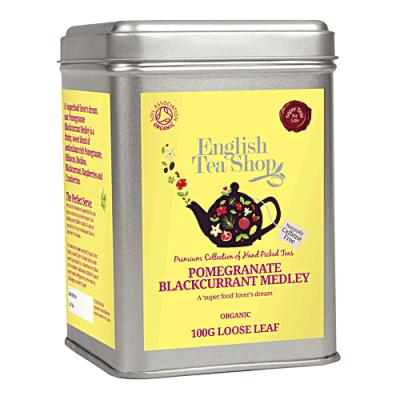 ETS Směs granátového jablka a černého rybízu, sypaný čaj 100 g