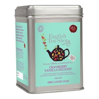 ETS Brusinka s vanilkou bez kofeinu, sypaný čaj 100 g