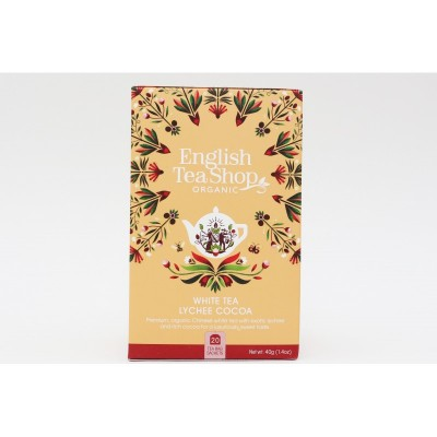 English Tea Shop Bílý čaj s lychee a kakaem Mandala 20 sáčků