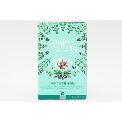 English Tea Shop Zelený čaj s mátou Mandala 20 sáčků