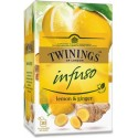 TWININGS Ovocný čaj CITRÓN & ZÁZVOR 20 x1,5 g