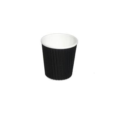 Kelímek papírový 100/110ml WRAP černý 40 ks