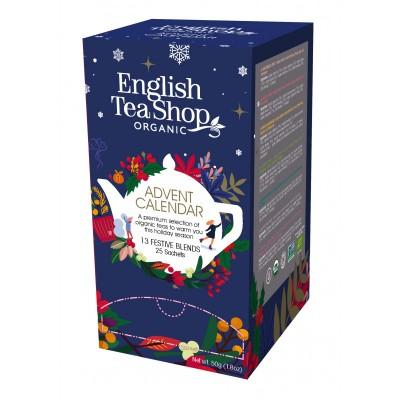 English tea shop Adventní kalendář Modrý v krabičce 25 sáčků