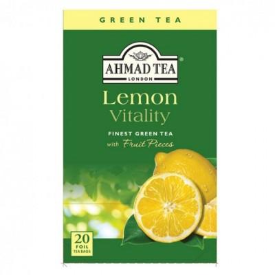 Ahmad Tea Green Tea lemon vitality 20 x 2 g