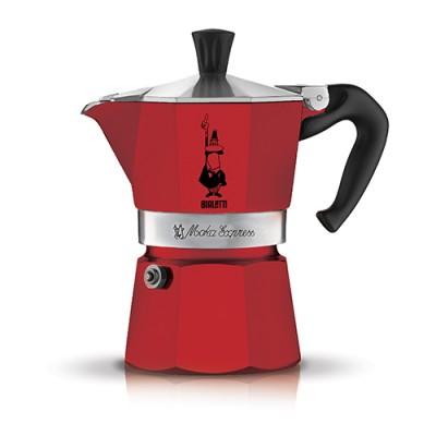 Moka kávovar Bialetti Moka Express červená 6 porcí