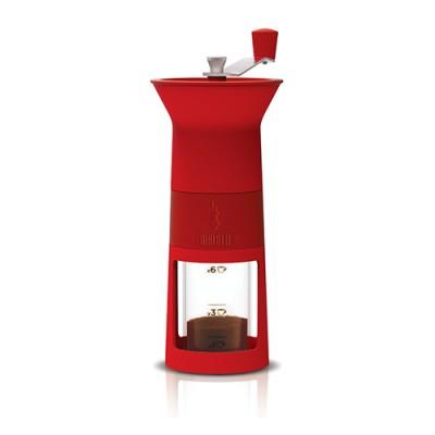 Bialetti Ruční mlýnek na kávu - červený