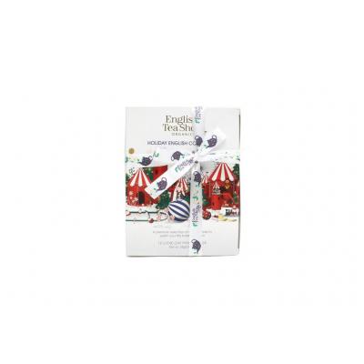 ETS dárková vánoční krabička BIO čajů Bílá kolekce s 12...