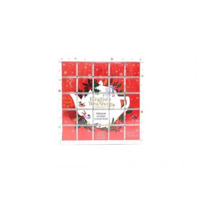 English tea shop Adventní kalendář červený puzzle 25 sáčků
