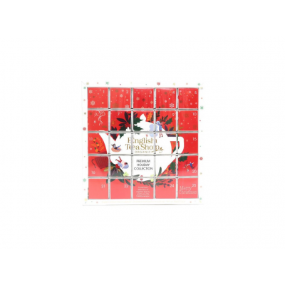 ETS Adventní kalendář červený puzzle 25 sáčků