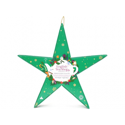 ETS Vánoční bio hvězda Zelená 6 bio pyramidek