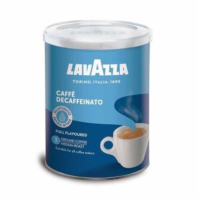 Lavazza Decaffeinato bezkofeinová káva 250g mletá dóza