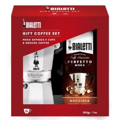 Bialetti Moka Express 6 šálků + káva
