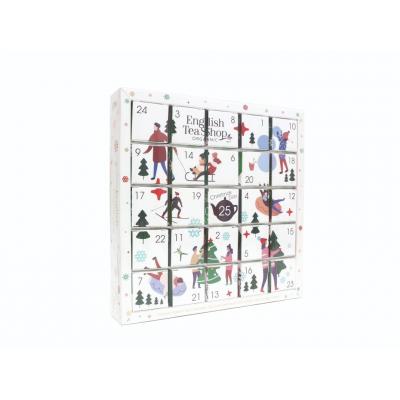 English tea shop Adventní kalendář bílý puzzle 25 sáčků