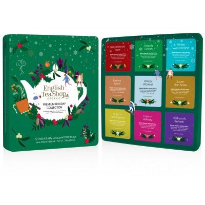 English Tea Shop Vánoční dárková plechová kazeta Zelená...