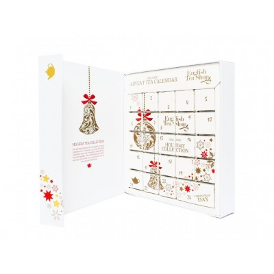 ETS Adventní kalendář ve tvaru knihy Bílý BIO 24 pyramidek