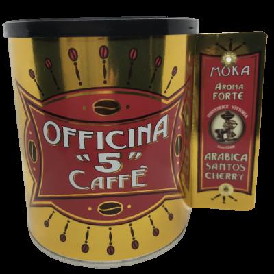 "Officina ""5"" caffé Forte Moka mletá káva plech. dóza 250g"