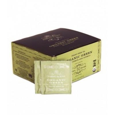 Harney & Sons Bio zelený čaj s citrónovou trávou a gingkem, 50 sáčků