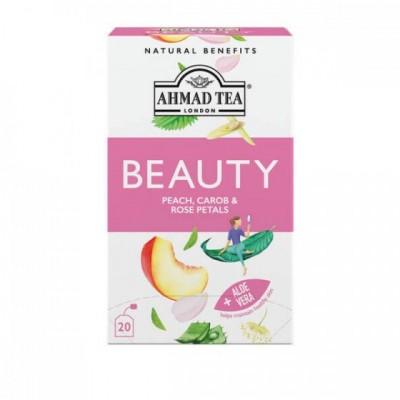 Ahmad Tea Beauty broskev, rohovník a okvětní lístky růže...