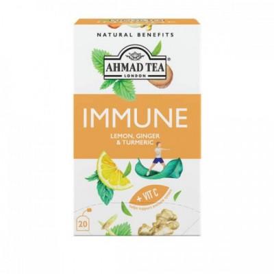 Ahmad Tea IMMUNE citron, zázvor a kurkuma 1,5g x 20 sáčků