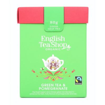 ETS Zelený čaj s granátovým jablkem 80g sypaný čaj