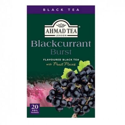 Ahmad Tea Černý čaj s příchutí černého rybízu 20 x 2 g