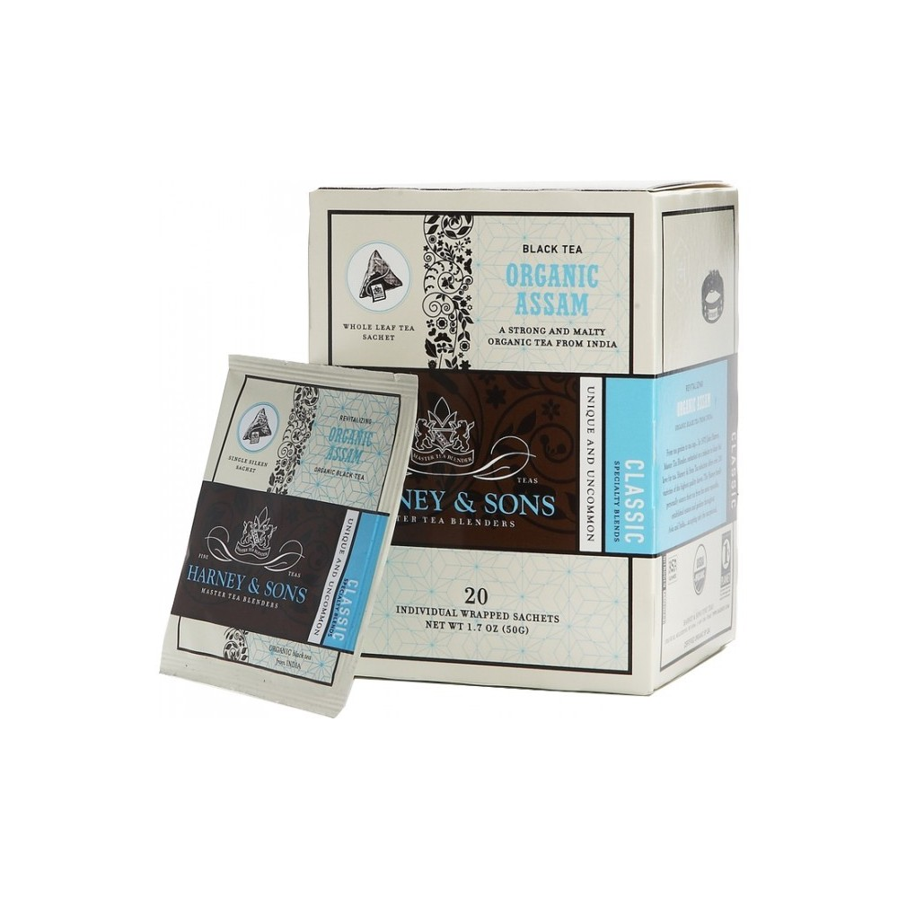 Harney & Sons Organic Assam - Wrapped Sachets