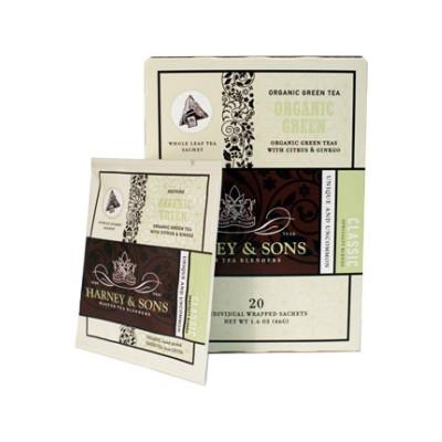 Harney & Sons čaj Organic Green - Wrapped Sachets