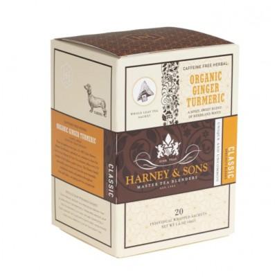Harney & Sons čaj Zázvor a kurkuma 20 x hedvábný...