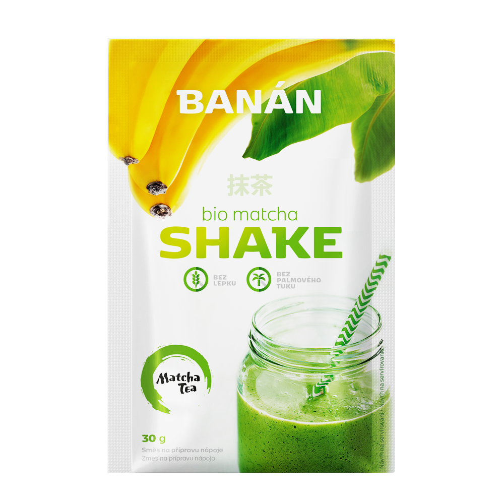 matcha shake banán 30g