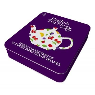 The English Tea Shop - Super Ovocná Kazeta 72 čajů v plechové kazetě