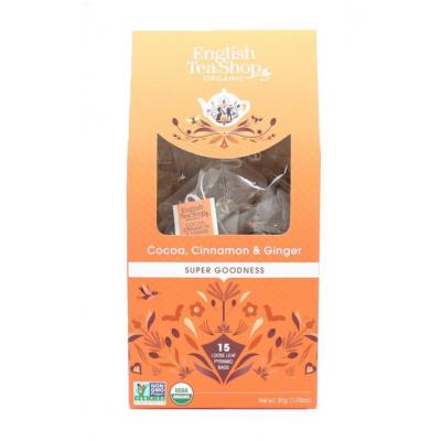 English tea shop kakao skořice a zázvor v biologicky odbouratelných pyramidkách 15 ks