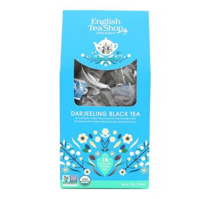 English Tea Shop Darjeeling v papírovém balení po 15 biologicky rozložitelných pyramidových sáčcích