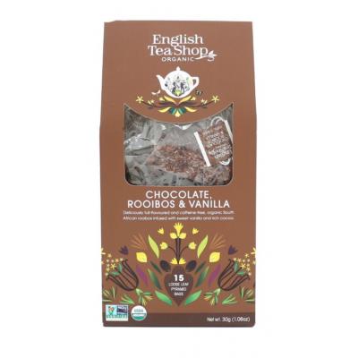 English Tea Shop Čokoláda, rooibos a vanilka 15 pyramidek