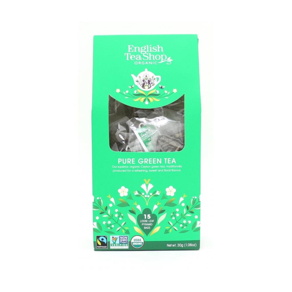 English Tea Shop čistě zelený čaj 15 pyramidek