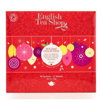 English Tea Shop červené ozdoby Vánoční kolekce čajů bio...